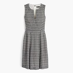 Petite contrast eyelet dress