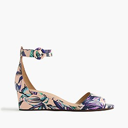 Laila leather wedges in floral