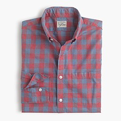 Secret Wash shirt in heather gingham