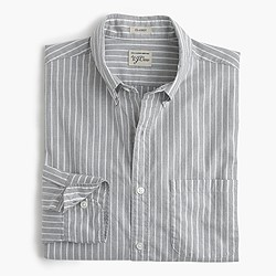 Secret Wash heather poplin shirt in ash stripe