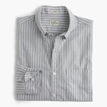 Secret Wash heather poplin shirt in ash stripe
