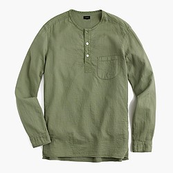 Double-faced garment-dyed pullover shirt