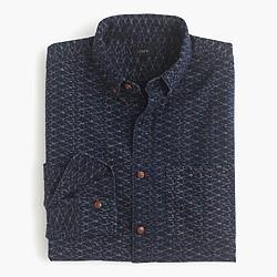 Secret Wash shirt in coastal indigo print