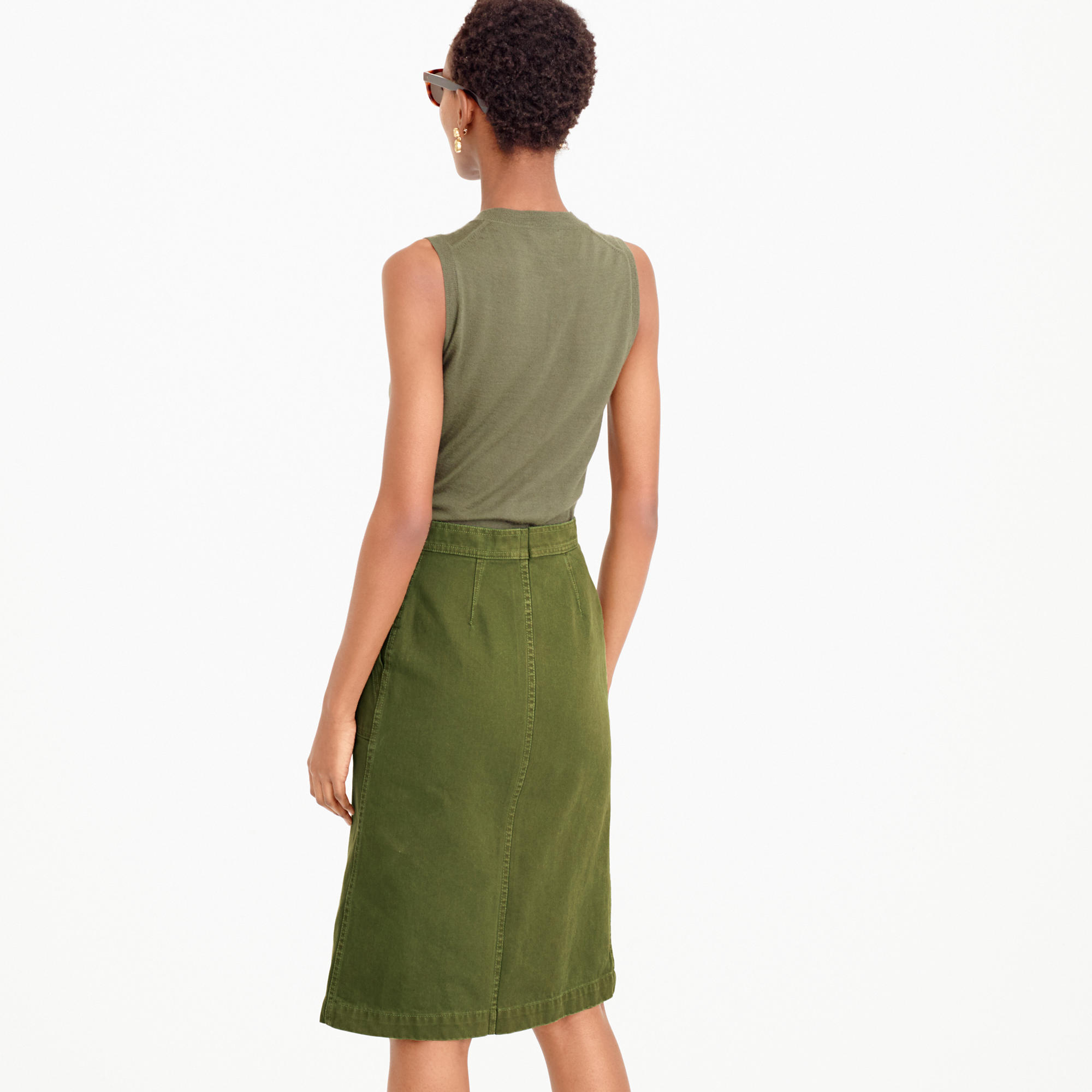 A-line skirt with pockets : Women A-line/Midi | J.Crew