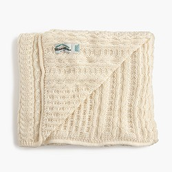 Aran Crafts™ honeycomb wool throw