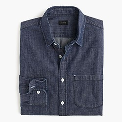 Cone Denim® slim shirt in rinsed indigo