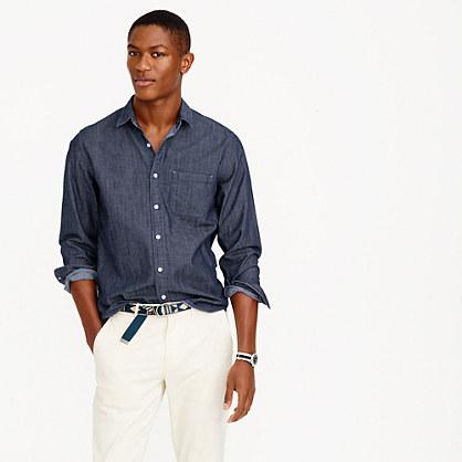 Cone Denim® slim shirt in rinsed indigo