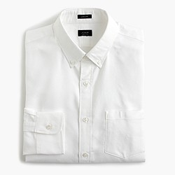 Ludlow cotton oxford shirt in white