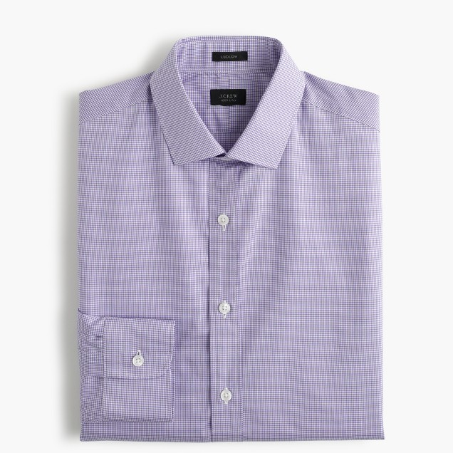 Ludlow shirt in purple gingham