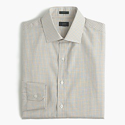 Crosby shirt in golden beach tattersall