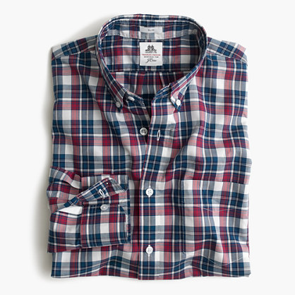 Slim Thomas Mason® archive for J.Crew washed shirt in blue tartan