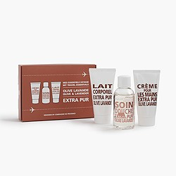 Compagnie de Provence® My Travel Essentials box set in olive & lavender