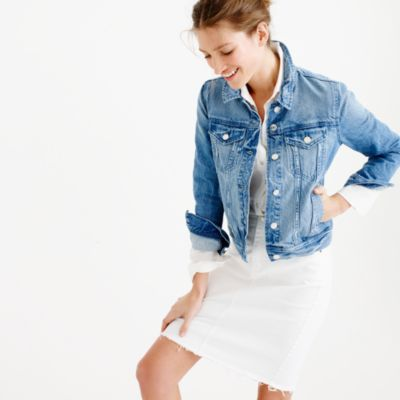 Petite denim jacket in Holston wash