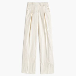 Ultra-wide-leg pant in Super 120s wool
