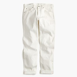 Wallace & Barnes straight selvedge jean in white
