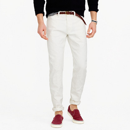 Wallace & Barnes straight selvedge jean in white