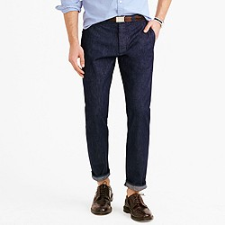 Wallace & Barnes chino in indigo selvedge denim