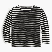 Long-sleeve striped crewneck T-shirt