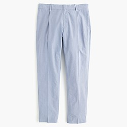 Pleated trouser in houndstooth cotton