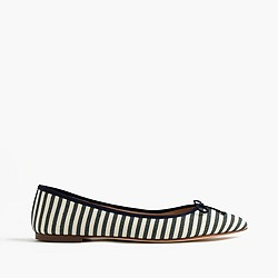 Gemma flats in stripe