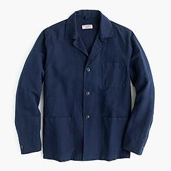 Wallace & Barnes lightweight garment-dyed cotton-linen shirt-jacket