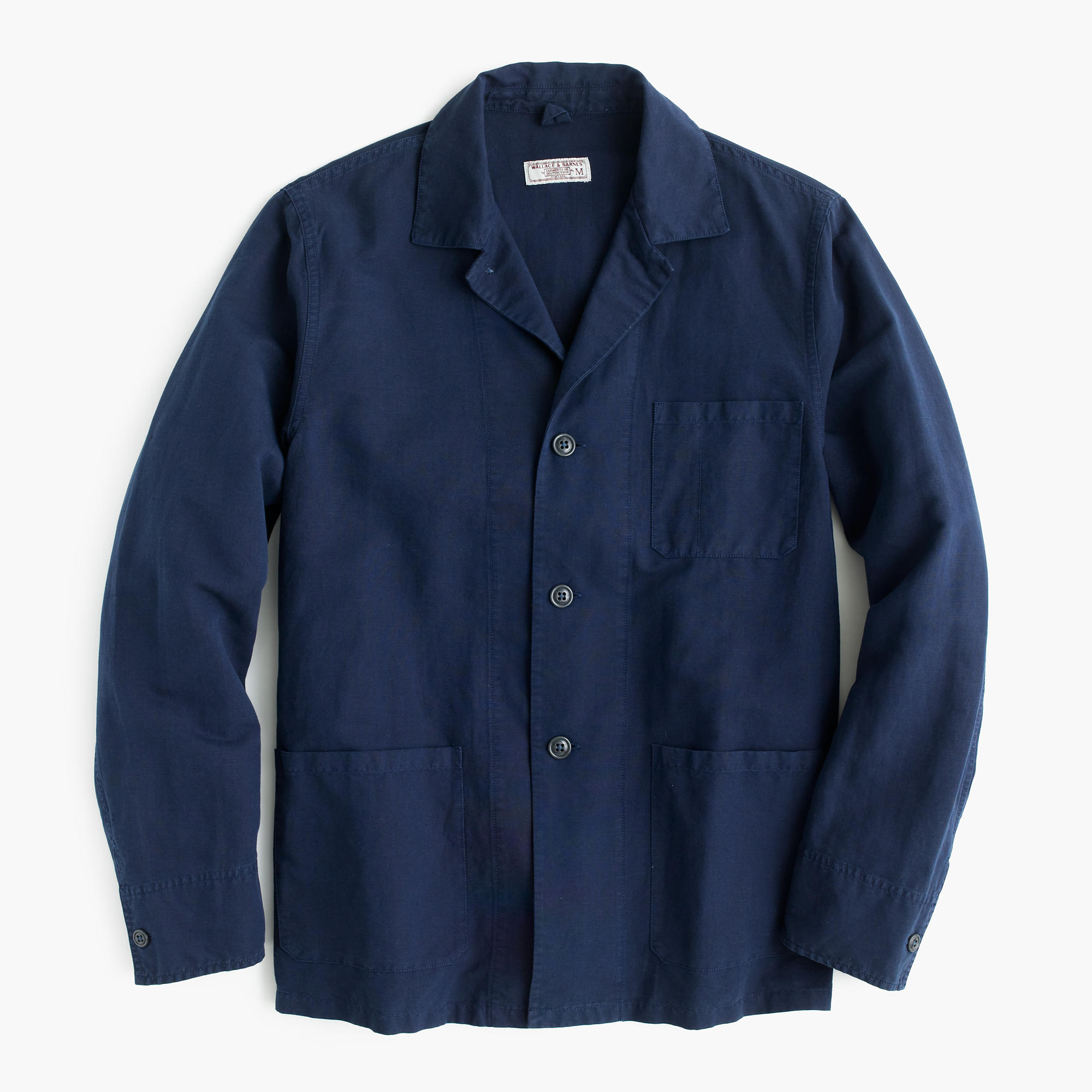 Wallace & Barnes Lightweight Garment-Dyed Cotton-Linen Shirt ...