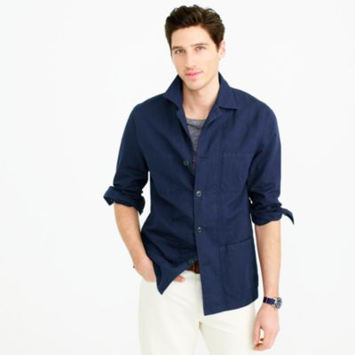 Wallace & Barnes lightweight garment-dyed cotton-linen shirt-jacket