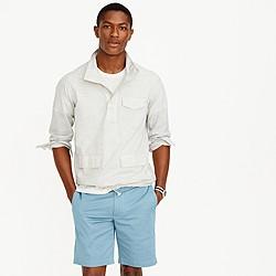 Cotton naval popover shirt in dobby stripe