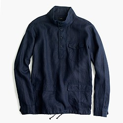 Irish linen naval popover shirt