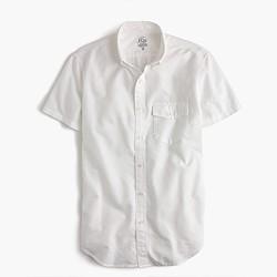Short-sleeve lightweight oxford shirt