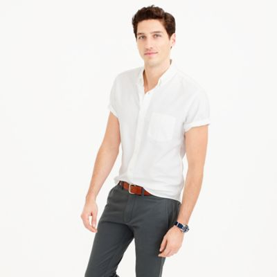 Short-sleeve lightweight oxford shirt
