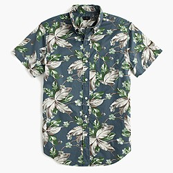 Short-sleeve shirt in spring vine floral