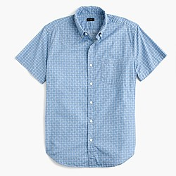 Short-sleeve shirt in harbor cove line print
