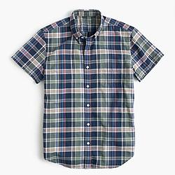Short-sleeve lightweight oxford shirt in plaid