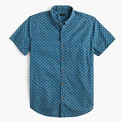 Short-sleeve shirt in floral