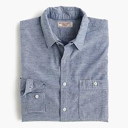 Wallace & Barnes removable-collar indigo oxford shirt