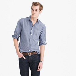 Wallace & Barnes removable-collar indigo oxford shirt