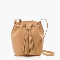 Mini bucket bag in leather