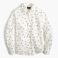 Tall perfect shirt in onyx dot