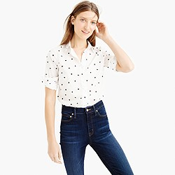 Petite perfect shirt in onyx dot