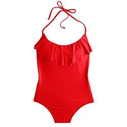 Ruffle one-piece swimsuit