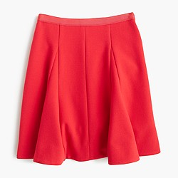 Circle mini skirt in crinkle crepe