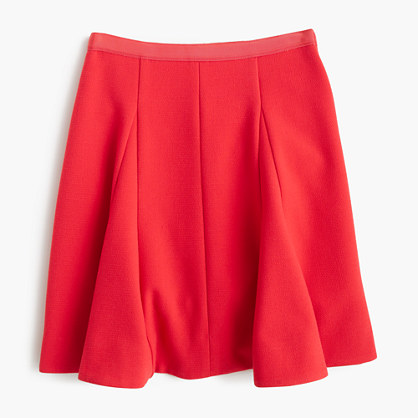 Circle mini skirt in crinkle crepe