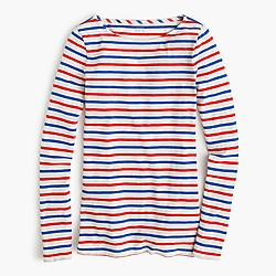 Long-sleeve multistripe painter T-shirt