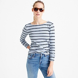 Long-sleeve multistripe painter T-shirt