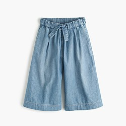 Girls' chambray culotte