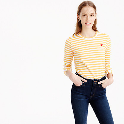 Comme des Gar?ons® striped heart T-shirt
