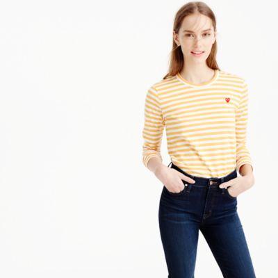 Comme des Garçons® striped heart T-shirt