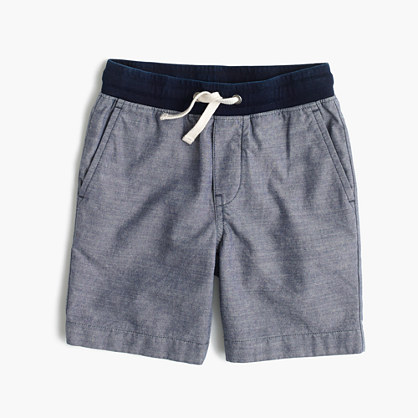 Boys' pull-on short in chambray
