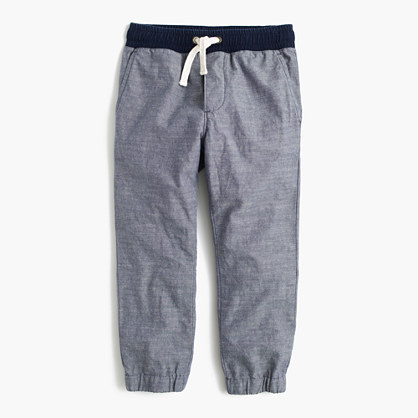 Boys' pull-on pant in chambray